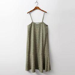 Leaf Sleeveless Long Dress