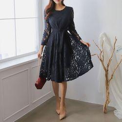 Princess Fit N Flare Lace Dress