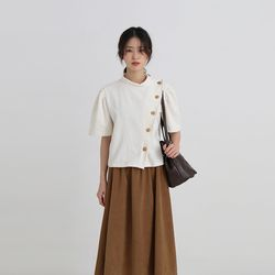 isabel corduroy half blouse (4colors)