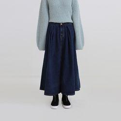screen denim flare skirt (2colors)