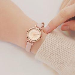 [Make a Wish] 여리여리 핑크 가죽시계 (OTW119102APP)
