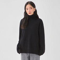 boxy wool simple polar knit