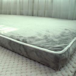 극세사 라인 라텍스 커버 - 퀸.더블 + 누비
