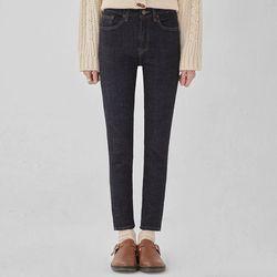 dark slim straight denim pants(2529)