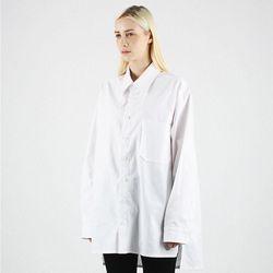 헤비오버핏 옥스퍼드 화이트 롱셔츠