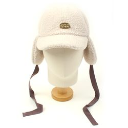 Ivory Fleece Ear Flap Cap 귀달이모자