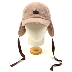 Brown Fleece Ear Flap Cap 귀달이모자