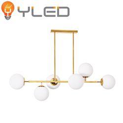 와이엘이디YLED 식탁등 컴바인6등 PD(골드+유백)