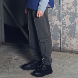 매스노운 이지 레그 카고 조거 슬랙스 MFETT004-GR