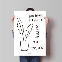 유니크 인테리어 디자인 포스터 M 식물 포스터 A3(중형)
