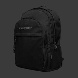 BLACK LABEL BACKPACK - BLACK (얼모스트블루 백팩)