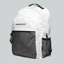 BLACK LABEL BACKPACK - WHITE (얼모스트블루 백팩)