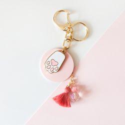 핑크 냥젤리 에어팟 키링