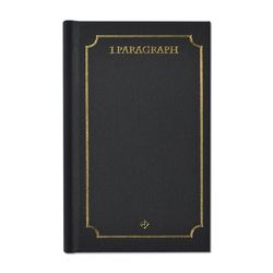 1 Paragraph Hardcover 04-Black