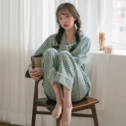 체크앨리스 pajama set (3P)