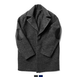 캐주얼 오버핏 누빔 코트