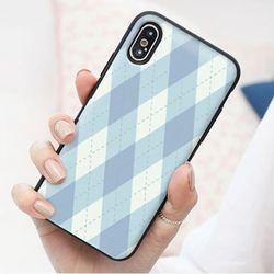 [Try]아가일체크 도어범퍼 케이스.LG G6(LGM600)