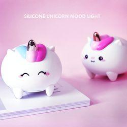 실리콘 유니콘 충전식 LED 무드등