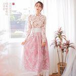 생활한복세트 분홍꽃+늘품 피치d