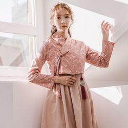생활한복세트 분연화+수화 핑크 원피스sets