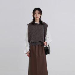 angora wide side vest (4colors)