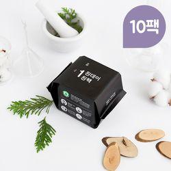 원데이원팩 유기농 생리대 롱라이너 10팩(200P)
