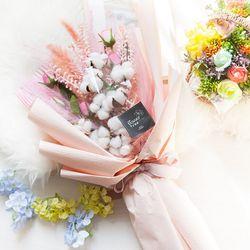 [무료배송] 장미목화꽃다발78cm P5