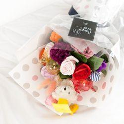 [무료배송] 라벤다곰꽃다발55cm P5
