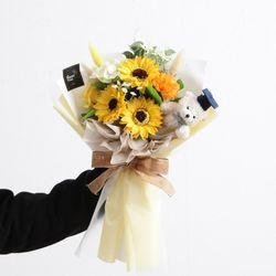 [무료배송] 네츄럴해바라기꽃다발42cm P4