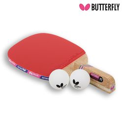Butterfly NAKAMA P2 펜홀더 (단면)형 탁구라켓+운동팔찌or발찌
