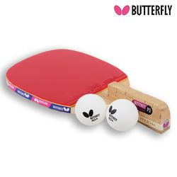 Butterfly NAKAMA P3 펜홀더 (단면)형 탁구라켓+운동팔찌or발찌