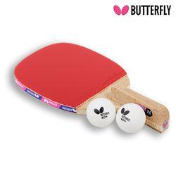 Butterfly NAKAMA P4 펜홀더 (단면)형 탁구라켓+운동팔찌or발찌