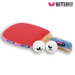 Butterfly NAKAMA P7 펜홀더 (단면)형 탁구라켓+운동팔찌or발찌