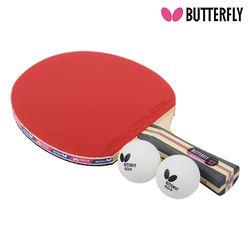 Butterfly NAKAMA S2 쉐이크 (양면)형 탁구라켓+운동팔찌or발찌