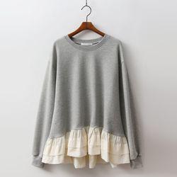 Cotton Frill Sweatshirt