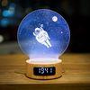 우주유영 무드등 스피커 시계