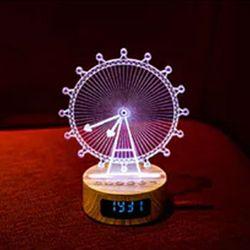 관람차 무드등 스피커 시계
