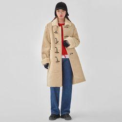 living corduroy duffle coat
