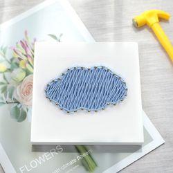 꼬마 구름 스트링아트 만들기 패키지 DIY (EVA)