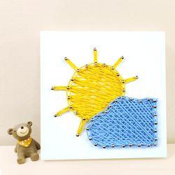 꼬마 구름&태양 스트링아트 만들기 패키지 DIY (EVA)