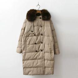 Fox Down Trench Puffer Coat