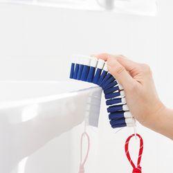 욕실 청소 브러쉬 블루