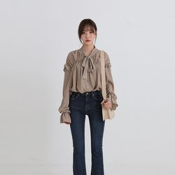 marry shirring strap blouse (2colors)
