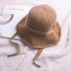 니트 보넷 버킷햇 리본끈 모자