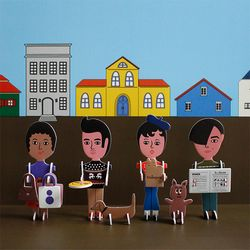 AURORE & FRIENDS PAPER TOY 4종