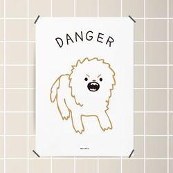 유니크 인테리어 디자인 포스터 M 심쿵 강아지 A3(중형)