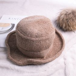 코지 와이어 버킷햇 모자