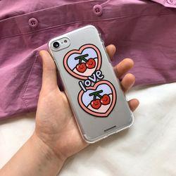 Love is cherry - jelly case (아이폰/갤럭시/LG 케이스)