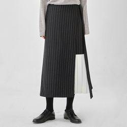 around pleats point wrap skirt
