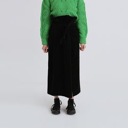 wide corduroy strap skirt (2colors)